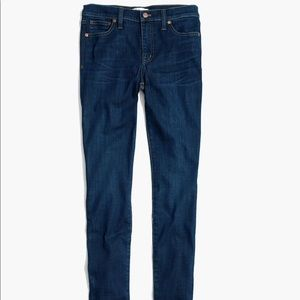 "Madewell 9"" High Rise Skinny Jeans in Larkspur"